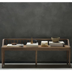 Ethnicraft Walnut Spindle Bench by Nathan Yong Styled