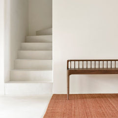 Ethnicraft Walnut Spindle Bench in Entryway