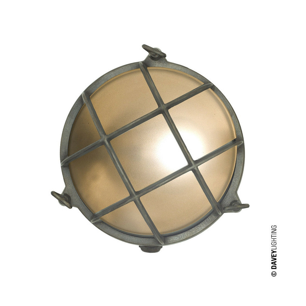 Brass Bulkhead Exterior Light by Davey Light and Original BTC