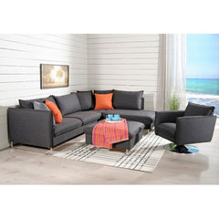 Flipper Sectional Sleeper Sofa with Sled Legs by Luonto