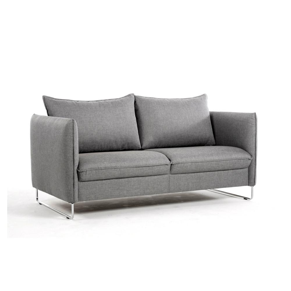Flipper Loveseat with Quickship Loule 413 Fabric by Luonto