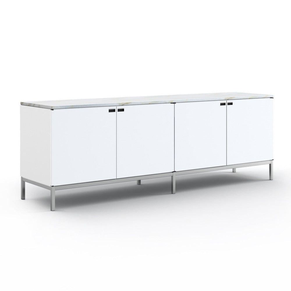 Modern White Credenza Florence Knoll Credenza 4 Position Knoll Modern Furniture