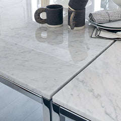 Florence Knoll Dining Tables Carrara Marble Detail