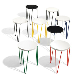 Florence Knoll Hairpin Stacking Tables in Bright Colors