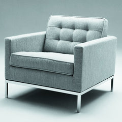 Florence Knoll Lounge Chair Smoke Grey Classic Boucle