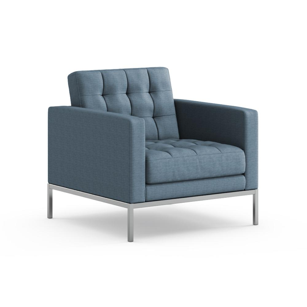 Florence Knoll Relaxed Lounge Chair in Summit Skyline