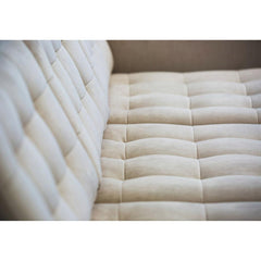 Florence Knoll Relaxed Sofa Suede Tufting Detail