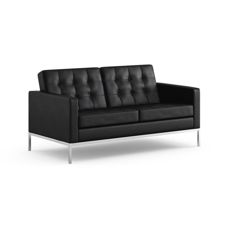 Florence Knoll Settee White   Florence Knoll Sette Volo Black LeatherFlorence Knoll Settee   Modern Furniture   PALETTE   PARLOR. Florence Knoll Sofa Dimensions. Home Design Ideas