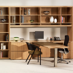 Life Office Chair by Formway Design for Knoll with Shelton Mindel Side Chair in Office