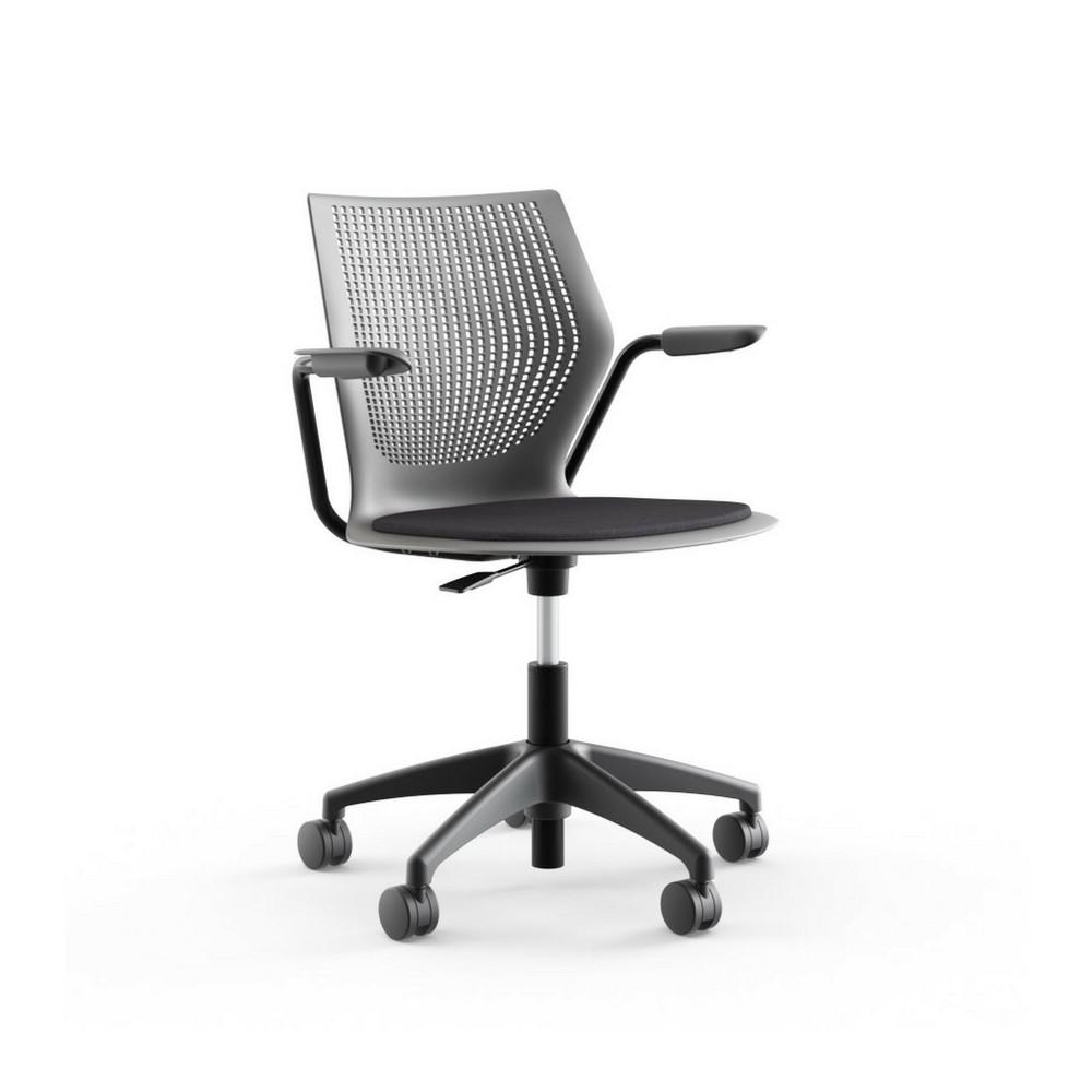 Knoll Multigeneration Light Task Chair With Arms And Seat Pad Palette Parlor Modern Design