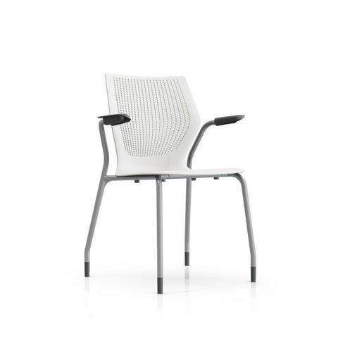 MultiGeneration Chair with Arms and Stacking Base by Knoll