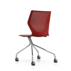 MultiGeneration Office Chair Armless Silver Hybrid Base Firecracker Knoll