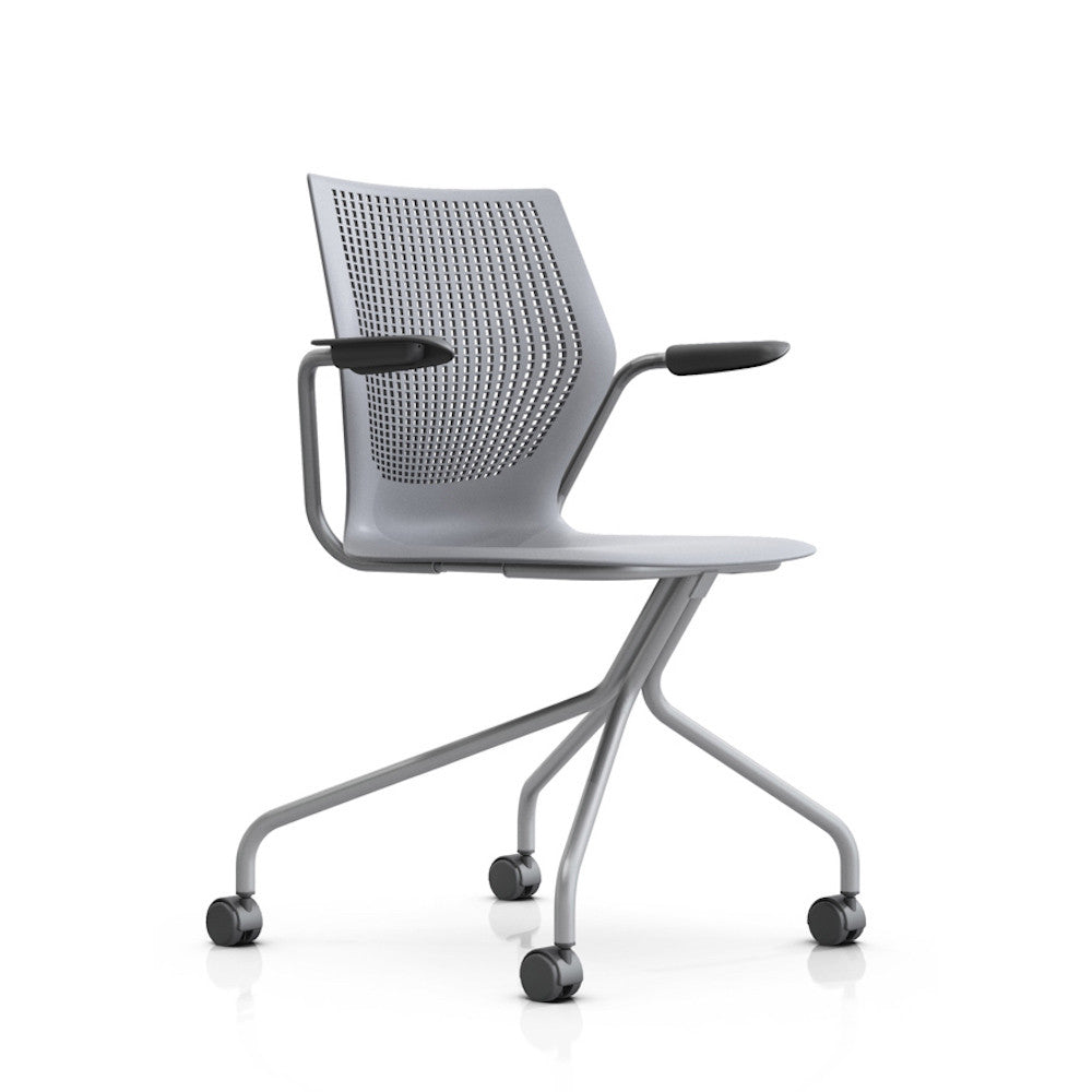 regeneration by knoll office chair  modern furniture  palette  - multigeneration by knoll hybrid base  fixed arms
