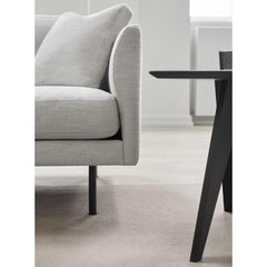 Fredericia Jens Risom Magazine Table with Calmo sofa edge detail