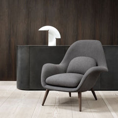 Fredericia Swoon Lounge Chair by Space Copenhagen in Situ
