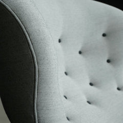 Frits Henningsen Heritage Chair FH419 Light Grey Button Detail Carl Hansen & Son