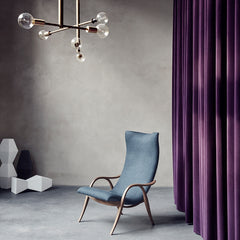Frits Henningsen Signature Chair Walnut with Grey Kvadrat Sunniva Upholstery in Room Carl Hansen and Son