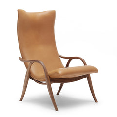 Frits Henningsen Signature Chair Walnut with Caramel SIF 95 Leather Carl Hansen and Son
