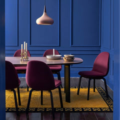 Fritz Hansen Analog Table with Sammen Chairs in Blue Dining Room Jaime Hayon
