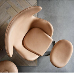 Fritz Hansen Arne Jacobsen Egg Chair and Footstool 60th Anniversary Edition Aerial View