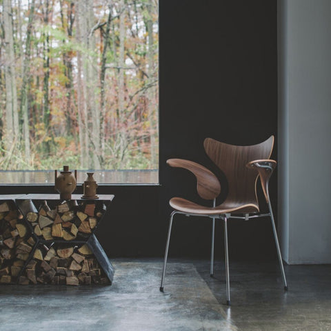 Fritz Hansen Lily Arm Chair - Walnut Veneer