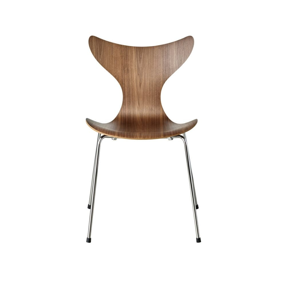 Fritz Hansen Arne Jacobsen Lily Chair 3108 in Walnut Veneer