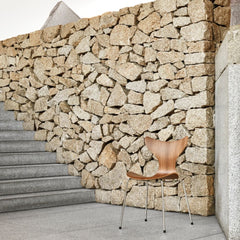 Fritz Hansen Arne Jacobsen Lily Chair 3108 with Stone Wall