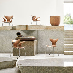 Fritz Hansen Arne Jacobsen Lily Chairs Styled in Room