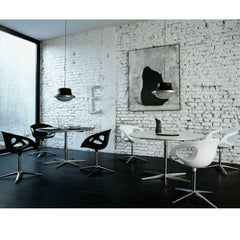 Fritz Hansen Rin Chairs in Cafe Black and White