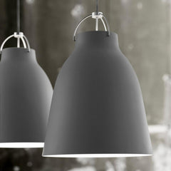 Fritz Hansen Caravaggio Pendant Lights by Cecilie Manz in Grey 45 Detail