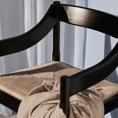 Fritz Hansen Carimate Chair by Vico Magistretti Black Closeup