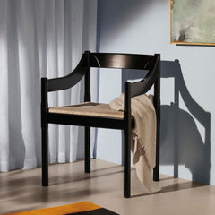 Fritz Hansen Carimate Chair by Vico Magistretti Black in Room