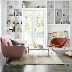 Fritz Hansen Cashmere Throw with Favn Sofa and Pot Chair