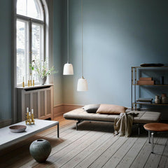 Fritz Hansen Cashmere Throw with Poul Kjaerholm Daybed