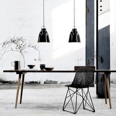 Fritz Hansen Caravaggio Pendant Lights by Cecilie Manz Gloss Black in Home Office