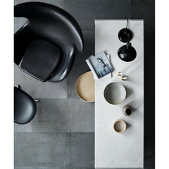 Fritz Hansen Egg Chair by Arne Jacobsen in Black Leather Top View