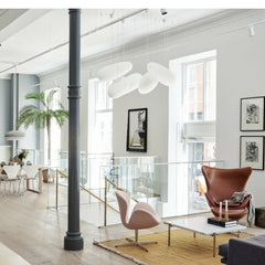 Fritz Hansen Egg and Swan Chairs in Copenhagen Showroom