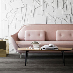 Pink Fritz Hansen Favn Sofa in Room with Join Coffee Table
