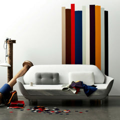 Fritz Hansen Favn Sofa by Jaime Hayon Styled in Room with Fabric Swatches