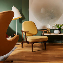 Fritz Hansen Fred Lounge Chair in situ with Leather Egg Chair