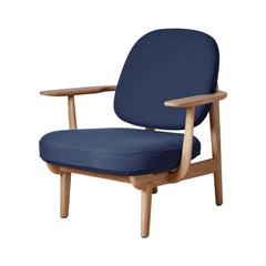 Fritz Hansen Fred Lounge Chair JH97 by Jaime Hayon in Natural Oak with Christianshavn Dark Blue 1155