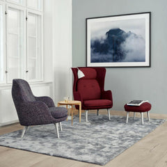 Fri Chair in Fritz Hansen Copenhagen Showroom with Ro Chair by Jaime Hayon