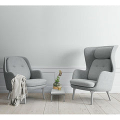Fritz Hansen Ro and Fri Chairs by Jaime Hayon Light Grey in Room