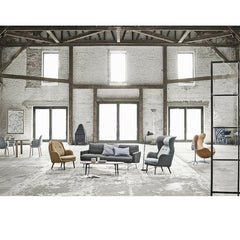 Lissoni Sofa with Fritz Hansen Furniture Collection in Loft
