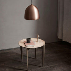 Fritz Hansen Gam Fratesi Suspence Pendant Copper styled with Tray Table