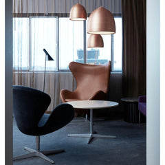 Fritz Hansen Gam Fratesi Suspence Pendants Copper in SAS Royal Copenhagen Hotel with Swan and Egg Chairs