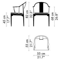 Fritz Hansen Hans Wegner China Chair Dimensions Model 4283