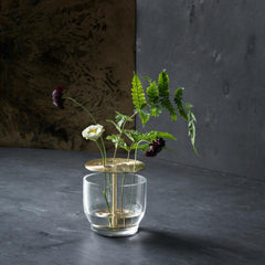 Fritz Hansen Ikebana Vase Small styled with Nordic greenery