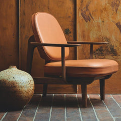 Fritz Hansen Jaime Hayon JH97 Lounge Chair Leather in situ