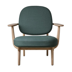 Fritz Hansen JH97 Lounge Chair Christianshavn Green Front